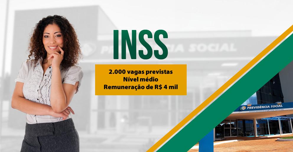 INSS: Concurso tem avanços! Oferta de 2 mil para para nível médio e inicial de R$ 4 mil!