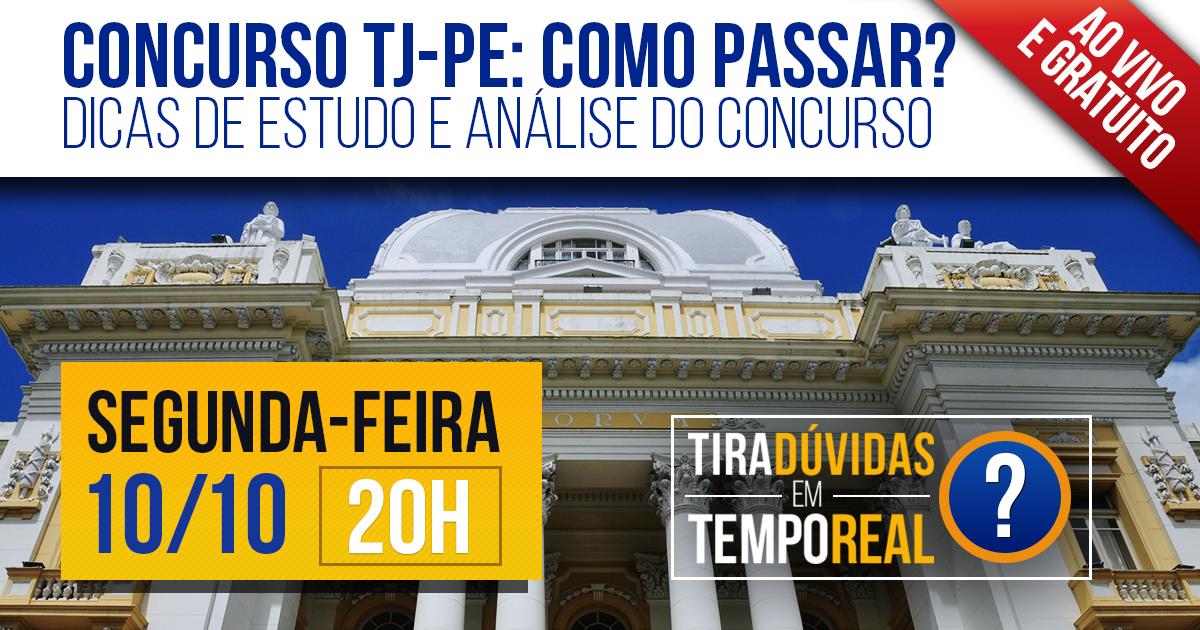 "Gran Cursos Online orienta candidatos a ""Como Passar"" no concurso do TJ PE. Evento ao vivo e gratuito!"
