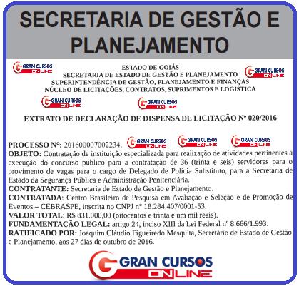 concurso Polícia Civil Goiás