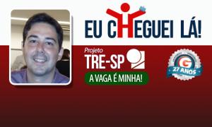 Em três meses, Fernando Claudio turbinou seus conhecimentos e foi aprovado no TRE SP!