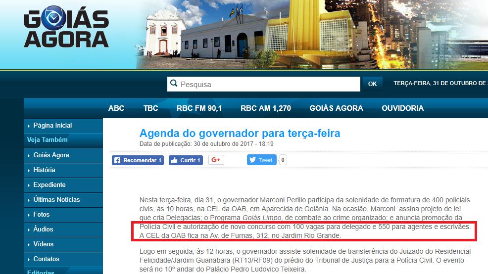 Concurso Polícia Civil Goiás (PC GO) terá novo edital para 550 vagas! Fique por dentro!