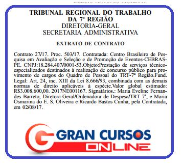 Organizador concurso TRT CE!