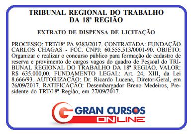 Concurso TRT GO - FCC
