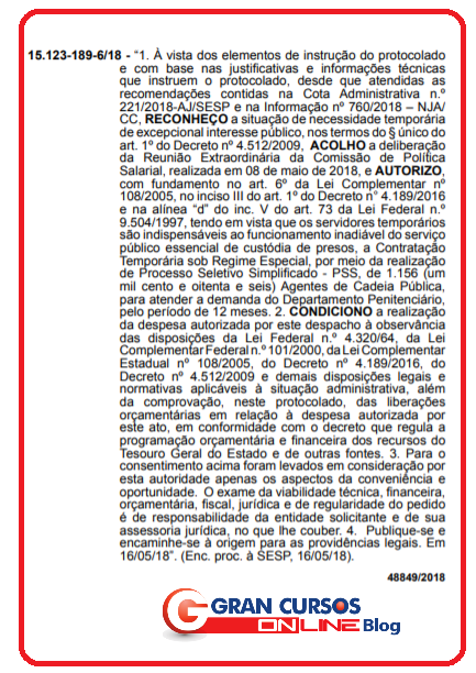 Concurso SESP PR: governador autoriza 1.156 contratações para Agente Penitenciário!
