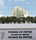 Entrada do Tribunal de Justiça do Paraná, responsável pelo concurso TJPR.